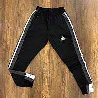 Мужские спортивные штаны адидас черные на манжете