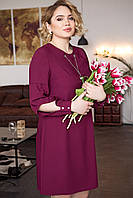 Платье  Кулон 48-54 марсала, фото 1