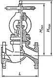 Вентиль сталевий 15с22нж Ду65, фото 5