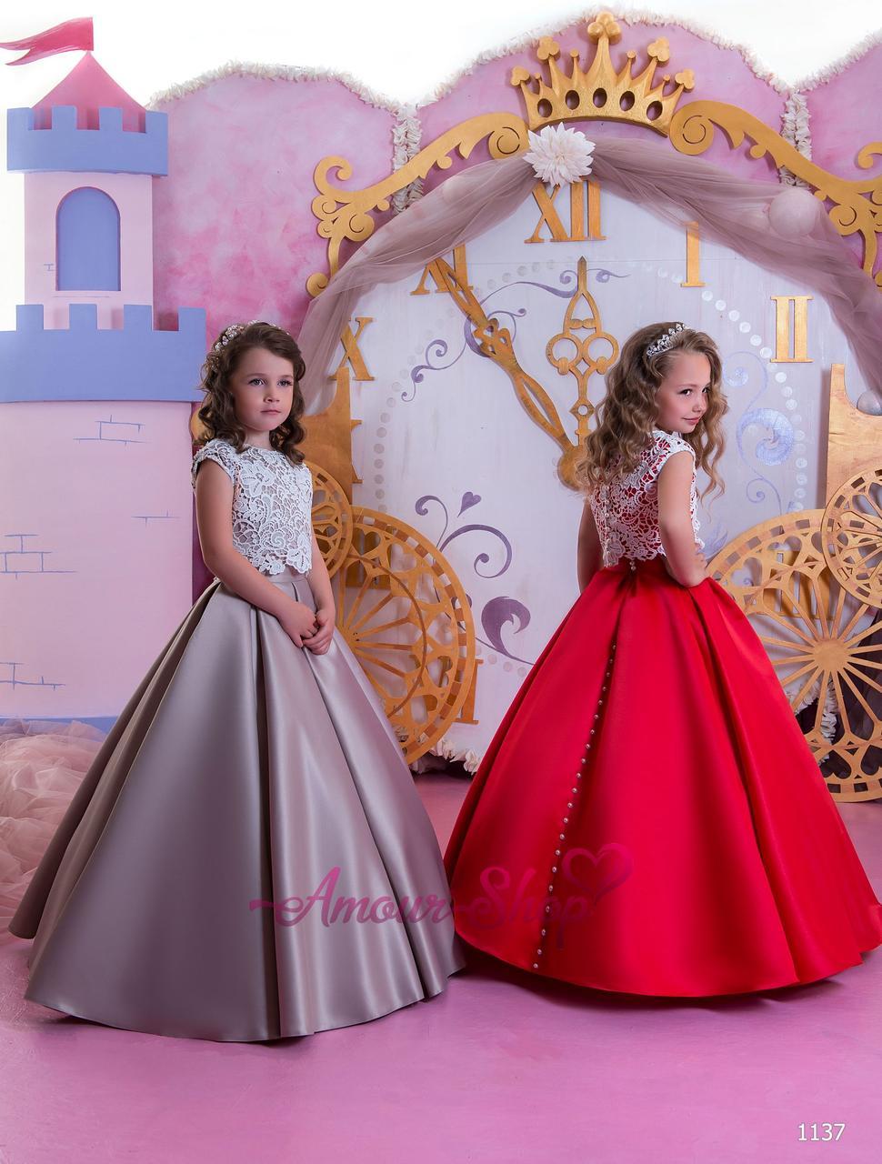 Детское вечернее выпускное платье на девочку (в садик, 4 класс),  1137