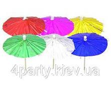 Зонтик для канапе блестящий 12 1502-0530