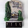 Настенная ключница - панно Милый дом (Home sweet home) Подарок ручной работы
