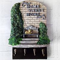 Настенная ключница - панно Милый дом (Home sweet home) Подарок для дома на новоселье, годовщину