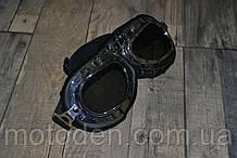 Ретроочки в винтажном стиле байкерские в (цвет линз в ассортименте) тёмные