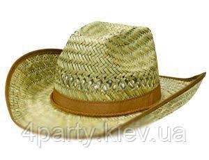 Шляпа ковбоя соломенная 1501-1418