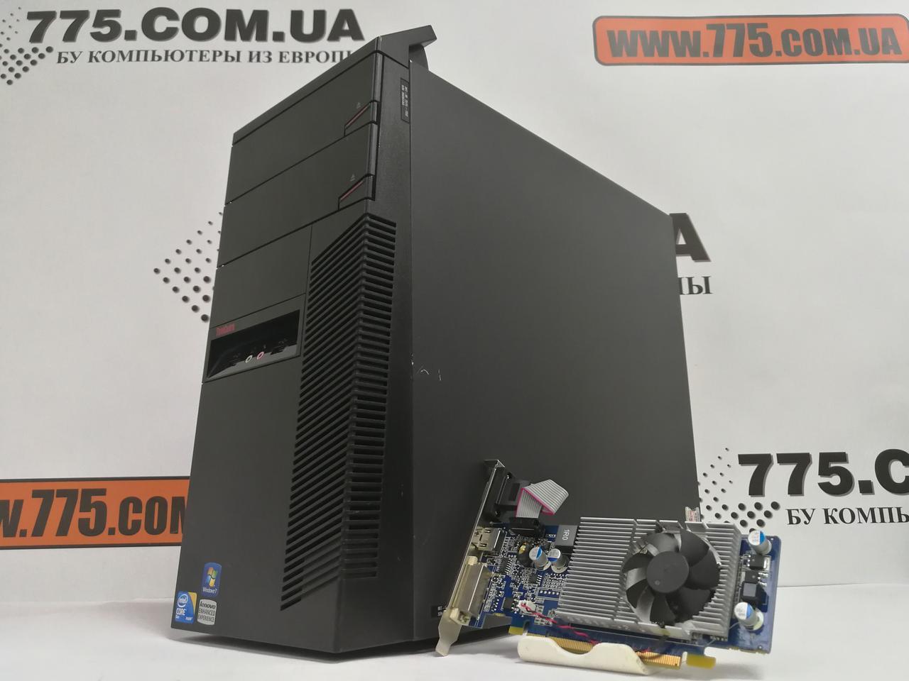 Компьютер Lenovo, Intel Core2Quad Q6600 3.0GHz, RAM 8ГБ, HDD 320ГБ, Nvidia GT210 1ГБ