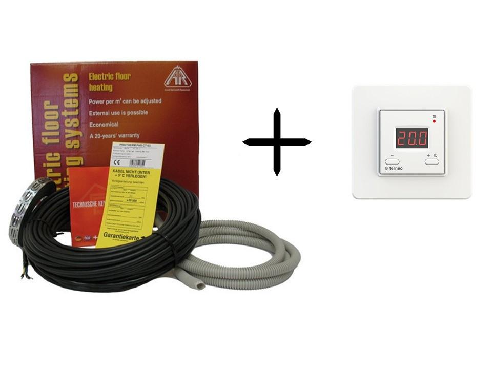 Теплый пол Arnold Rak двужильный кабель EC 6113-20 + терморегулятор Terneo ST