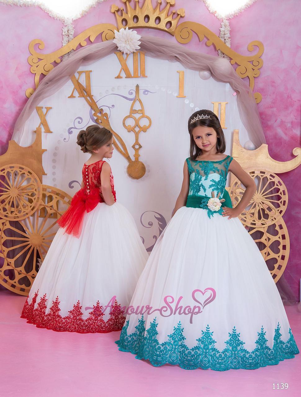 Детское вечернее выпускное платье на девочку (в садик, 4 класс),  1139