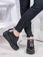 Туфли черные женские на платформе