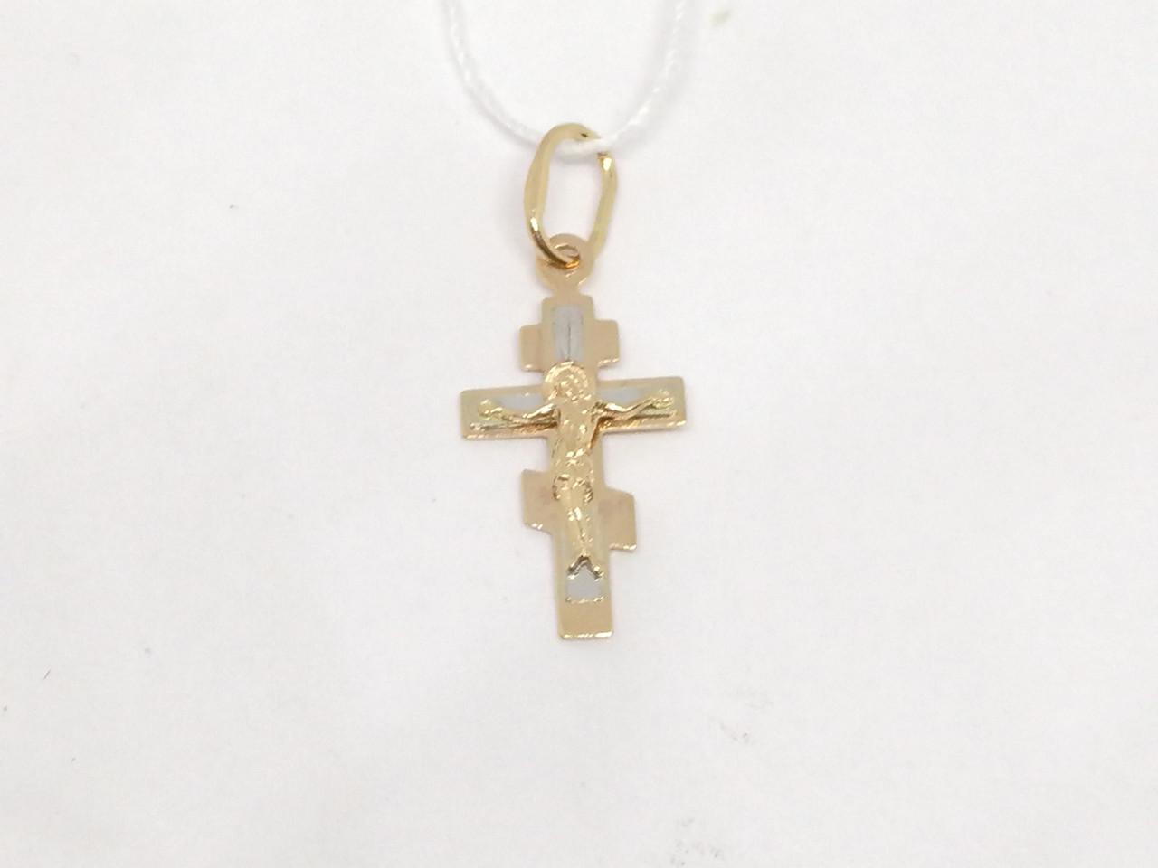 Золотой крестик. Распятие Христа. Артикул 529600