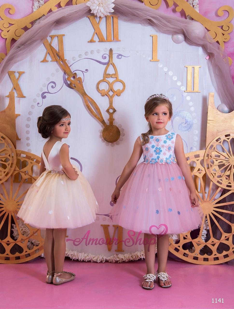 Детское вечернее выпускное платье на девочку (в садик, 4 класс),  1141