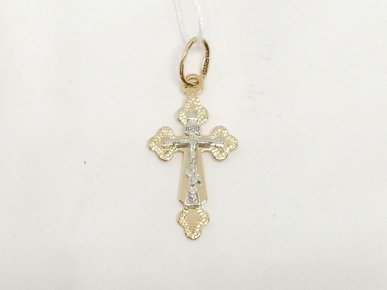 Золотой крестик. Распятие Христа. Артикул 530701