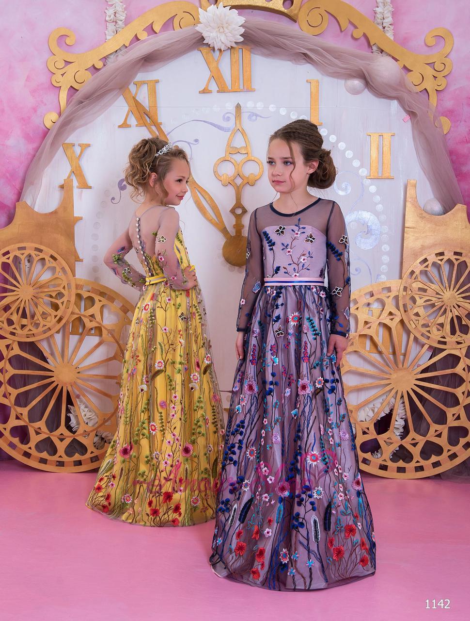 Детское вечернее выпускное платье на девочку (в садик, 4 класс),  1142