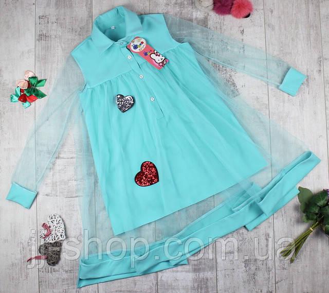 Детское платье для девочек теплое