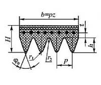 Ремень поликлиновой 8 РК 1655