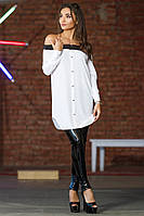 Красивая женская блуза на пуговицахс открытыми плечами 42,44,46,48