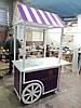 Телега деревянная декоративная для ресторана, торговли, кафе Телега: «Ресторатор» , фото 6