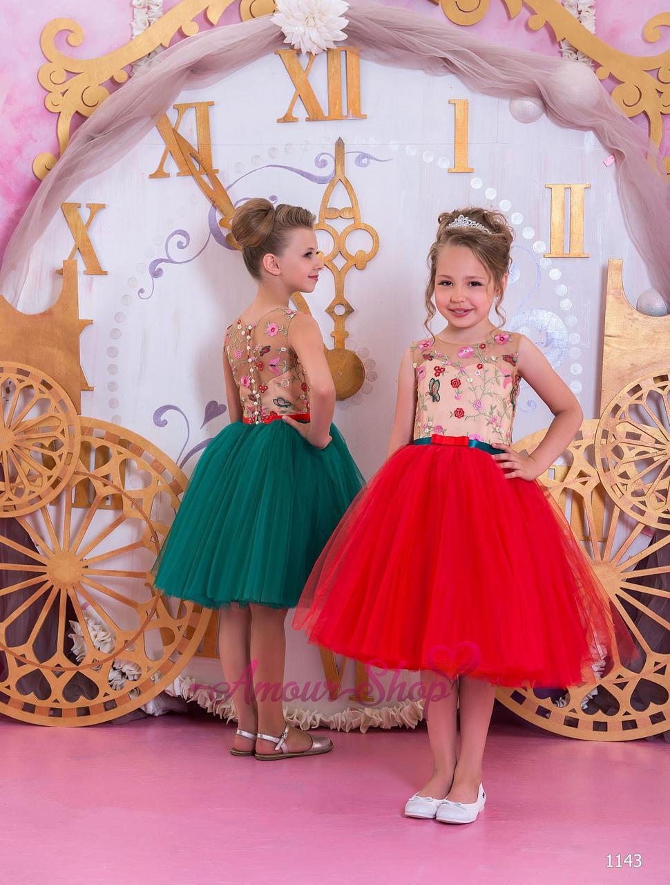 Детское нарядное выпускное платье на девочку 4,5,6,7,8,9,10,11лет (в садик, 4 класс),  1143