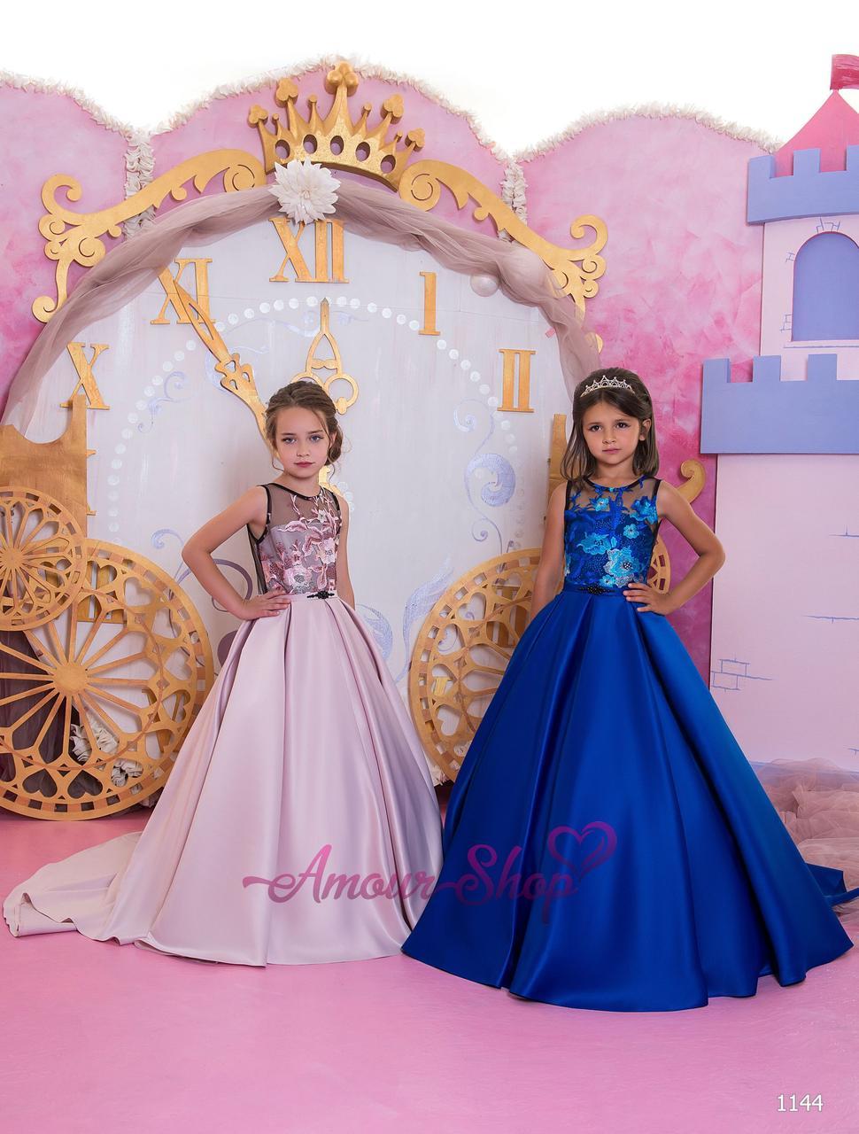 Детское нарядное выпускное платье на девочку 4,5,6,7,8,9,10,11лет (в садик, 4 класс),  1144
