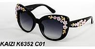 Солнцезащитные очки KAIZI 6352 с розочками черные
