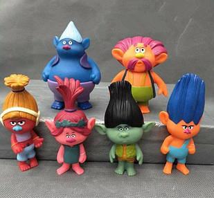 Фигурки-игрушки Тролли ( Trolls ), 6 шт