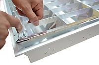 Услуга переоборудования растрового светильника под светодиодные лампы