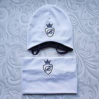 Весенний комплект детский, шапка и снуд Billionaire, фото 1