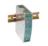 Блок живлення Mean Well EDR-75-24 На DIN-рейку 76.8 Вт, 24 В, 3.2 А (AC/DC Перетворювач)