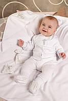 Крестильный набор из 5 предметов для новорожденных. Размер 62 - 3 мес