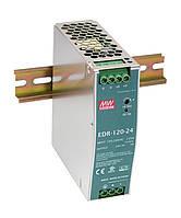Блок живлення Mean Well EDR-120-24 На DIN-рейку 120 Вт, 24 В, 5 А (AC/DC Перетворювач)