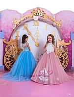 Детское нарядное выпускное платье на девочку 4,5,6,7,8,9,10,11лет (в садик, 4 класс),  1148
