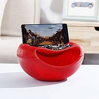 Миска для семечек с подставкой для телефона красная