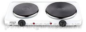 Плита электрическая двухконфорчная 2500Вт Adler ad 6504