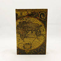 Шкатулка сейф- Карта мира