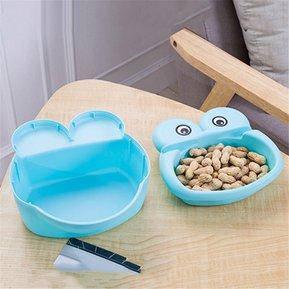 Миска для семечек с подставкой для телефона синяя