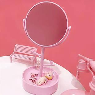 Косметическое двойное зеркало-шкатулка настольное