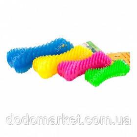 Игрушка для собак неоновая шипованная кость с ароматом ванили 16 см № 3