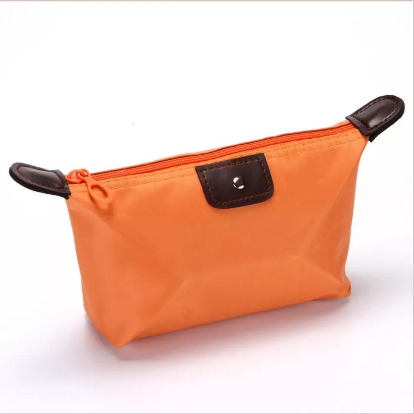 Косметичка-органайзер для косметики оранжевая
