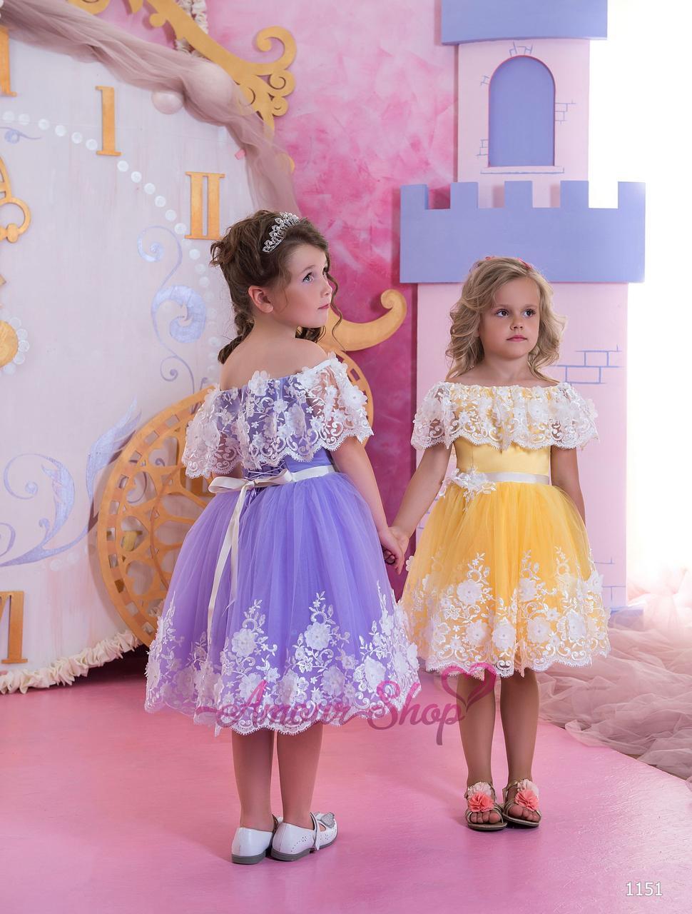 Детское нарядное выпускное платье на девочку 4,5,6,7,8,9,10,11лет (в садик, 4 класс),  1151
