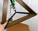 Подвесной светильник из первосортного дерева, треугольная форма, современный стиль, натуральное дерево, loft, фото 9
