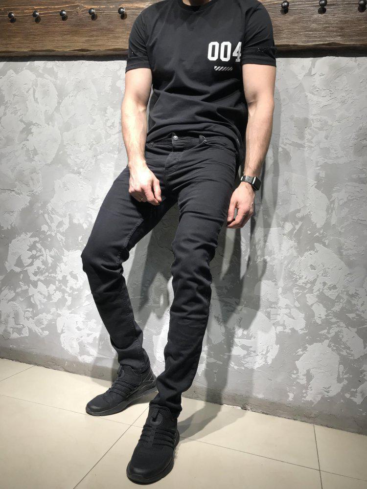 Джинсы STRAVT черного цвета топ-реплика
