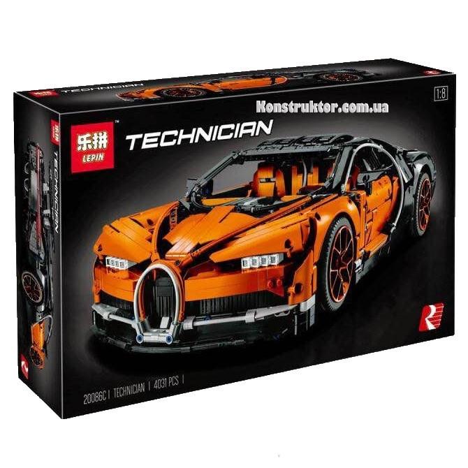 "Конструктор Lepin 20086C ""Bugatti Chiron"" 4031 деталей. Аналог Lego Technic 42083"