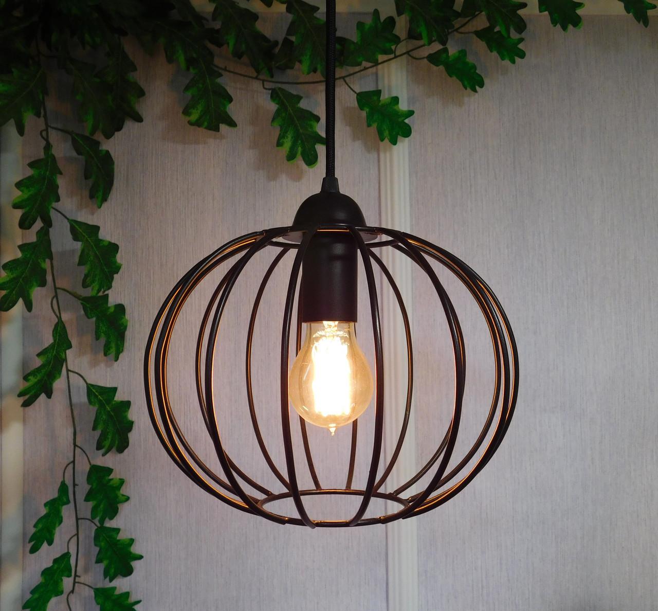 """Подвесной металлический светильник, современный стиль, loft, vintage, modern style """"ARC"""" Е27 черный цвет"""
