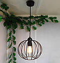 """Подвесной металлический светильник, современный стиль, loft, vintage, modern style """"ARC"""" Е27 черный цвет, фото 3"""
