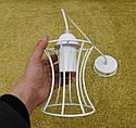 """Подвесной металлический светильник, современный стиль, loft, vintage, modern style """"SANDBOX-W"""" Е27  белый цвет, фото 6"""