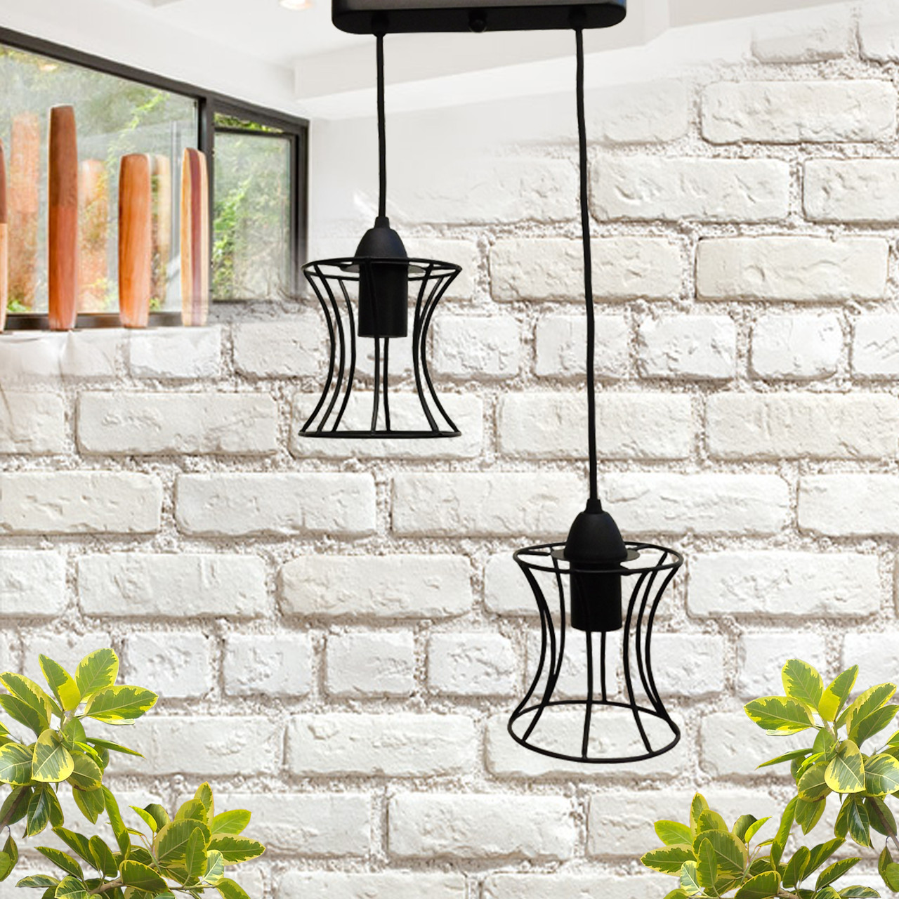 """Подвесной металлический светильник, современный стиль, loft, vintage, modern style """"SANDBOX-2B"""" Е27  черный"""
