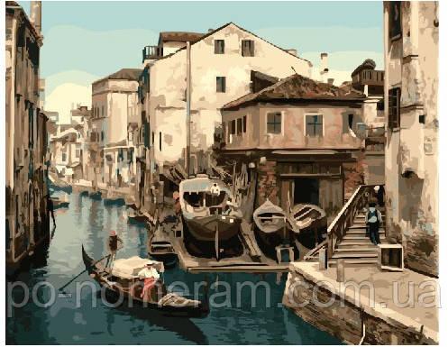 Раскраска для взрослых Канал Венеции (BRM21169) 40 х 50 см ...