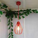 """Подвесной металлический светильник, современный стиль, loft, vintage, modern style """"KAPLIA-RM"""" Е27  красный, фото 2"""
