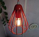 """Подвесной металлический светильник, современный стиль, loft, vintage, modern style """"KAPLIA-RM"""" Е27  красный, фото 6"""