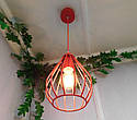 """Подвесной металлический светильник, современный стиль, loft, vintage, modern style """"KAPLIA-RM"""" Е27  красный, фото 8"""